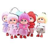 kingko 5pcs Enfants Jouets Doux interactif bébé poupées Jouet Poupées de Mode,...