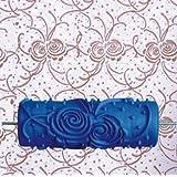 tfrdertuuigf DIY Decoración de la pared patrón de flores en relieve rodillo de pintura, color azul