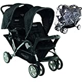 Graco Stadium Duo Tandem Pushchair Black (Ours Includes Raincover)