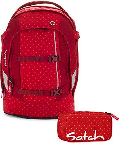 satch schulrucksack set pack 2 tlg dotty 977 rot gepunktet. Black Bedroom Furniture Sets. Home Design Ideas
