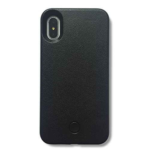 Hot Caso selfie Luce iPhone 7 8 Plus, BBLL2017 caso selfie telefono con FaceTime - illuminato telefono cellulare Custodia [ Oro rosa ] per iPhone 7 8 Plus (iPhone 7 8 Plus 5.5inch, Nero) Nero