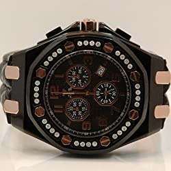 Aqua Master Royal Oak Mens Diamond Watch 1.50ctw W325G