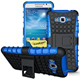 Samsung Galaxy Grand Prime Funda, FoneExpert® Heavy Duty silicona híbrida con soporte Cáscara de Cubierta Protectora de Doble Capa Funda Caso para Samsung Galaxy Grand Prime SM-G530 G530H G530FZ + Protector Pantalla (Azul)