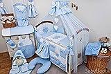 Luxus 21Stück Baby Betten-Set passend für Baby/Kleinkind Kinderbett Bett–Love Herz
