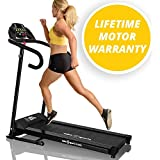 X-LITE SPRINT TREADMILL - 2016 MODEL - SUPER COMPACT - SUPER LITE - 750W Powerful Motor - 12 Pre-set Interval Training Programs - 1 Manual Program - 10% Fixed Incline - 5 Quick Speed Keys - 10KM/H - Bottle Holders - Motorised Folding Fitness Running Machine
