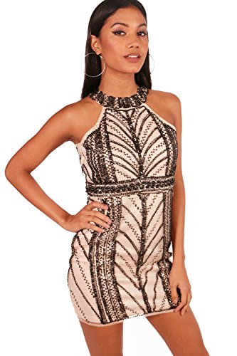 Erröten Damen Boutique Ella Embellished Bodycon Dress