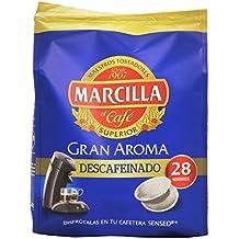 Marcilla Gran Aroma Descafeinado. 5 packs de 28 monodosis cada uno. Total: 140 monodosis