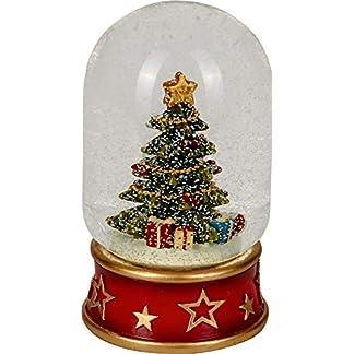 Seasons Greetings Bola Mágica de Nieve Arbol de Navidad