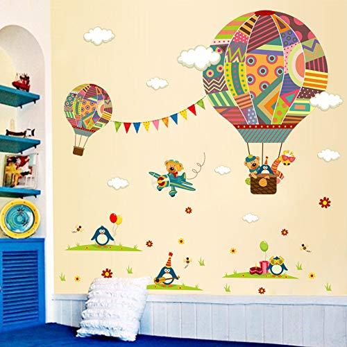 TIVOPA Colorido Globo De Aire Caliente Pingüino Oso Cartón Mural Decoración para El Hogar Calcomanía Niños Bebé Nursery Dormitorio Etiqueta De La Pared Cartel