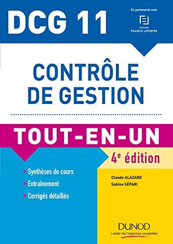 DCG 11 - Contrle de gestion - 4e d. : Tout-en-Un (Tout-en-Un DCG)