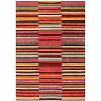 Moderna Designer tappeto Jacob Stripe Tappeto Rosso 200x300cm multi multicolor