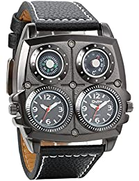 Avaner Reloj de Pulsera Grande Punky Militar Deportivo para Hombres, Brújula y Termómetro Decorativos Ancha