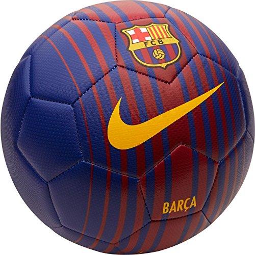Nike - MOD. Prstg - Pallone da Calcio, con Logo FC Barcelona, Unisex - per Adulti, Colori: Blu Scuro Royal/Rosso Nobile/Oro University, 5