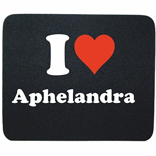 """Exklusive Geschenkidee: Mauspad """"I Love Aphelandra"""" in Schwarz, eine tolle Geschenkidee die von Herzen kommt- Rutschfestes Mousepad- Weihnachts Geschenktipp"""