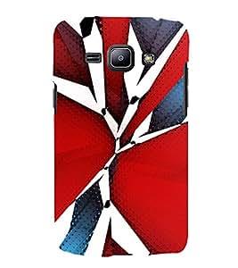 TRICOLOURED VINTAGE Pattern 3D Hard Polycarbonate Designer Back Case Cover for Samsung Galaxy J1 (2016)::Samsung Galaxy J120F::Samsung Galaxy J1 (2016) Duos with dual-SIM card slots