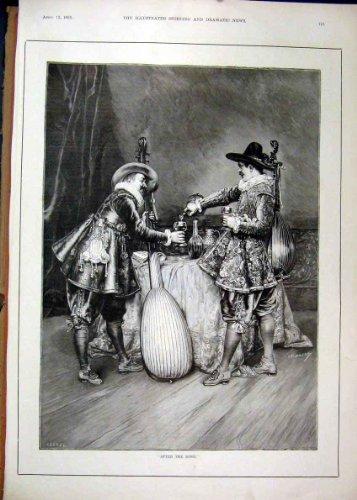 1895 Männer, die Tafelmusik-Kostüm-Antiken-Schöne Kunst (1895 Kostüme)