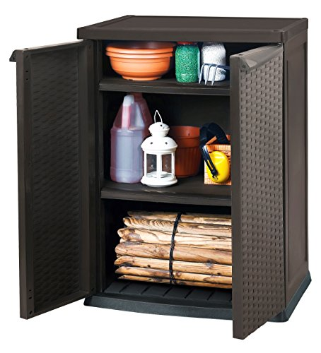 keter universalschrank rattan style mini shed braun top. Black Bedroom Furniture Sets. Home Design Ideas