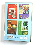 8 Weihnachtskarten 4 Motive je 2 x incl. Umschlag