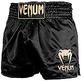 Venum Classic, Pantaloncini Muay Thai Unisex - Adulto, Nero/Oro, M