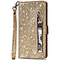 Yobby Glitzer Brieftasche Hülle für Huawei P20, Huawei P20 Gold Handyhülle Bling Slim Reißverschluss Leder Schutzhülle... preisvergleich bei billige-tabletten.eu