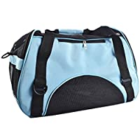LvRao Pet Tote Bag Cozy Carrier Handbag for Cats, Dogs Mesh Portable Pet House (Blue, S: 40 * 20 * 30cm)