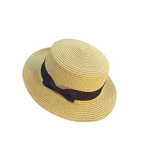 BBestseller Protector Solar Sombrero de Paja,Big Bowknot Sombreros de Sol de Verano...