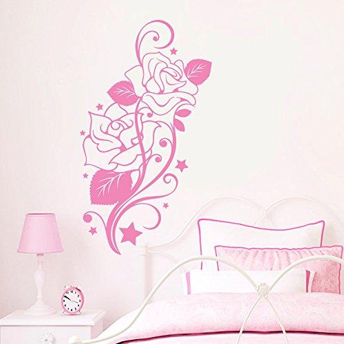 decorrooms-adhesivos-de-pared-de-vinilo-diseno-de-flores-rosas-para-floristerias-salon-dormitorio-ba