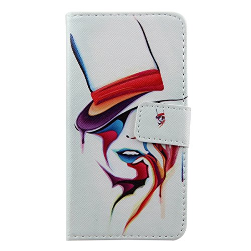 iPhone 6 4.7 Custodia in pelle, iPhone 6S Flip Cover, Felfy Elegante Luxury Blu Mare Design Portafoglio Flip Folio Pelle PU Leather Book Wallet Libro Cuoio Chiusura Magnetica Protettiva Stand Custodi Magia Art