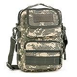 cinmaul Outdoor Taktisches Schulter Rucksack Militär Sport Tasche Pack Tagesrucksack Rover Sling für Camping, Wandern, Trekking, Herren, ACU Camouflage