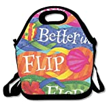 DRVLTY Lunch Boxes Life is Better in Flip-Flops Lunch Tote-Personalized Lunch Bags
