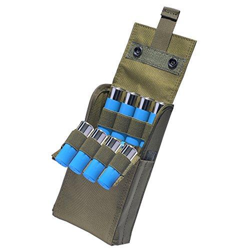 Taktische Shotgun Reload Pouch für 12 Gauge, 25 Runde (Grün)