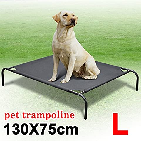 Beyondfashion 130cm x 75cm x 20cm Large Elevated Dog Bed Cot Indoor Outdoor Raised Pet Big Couch