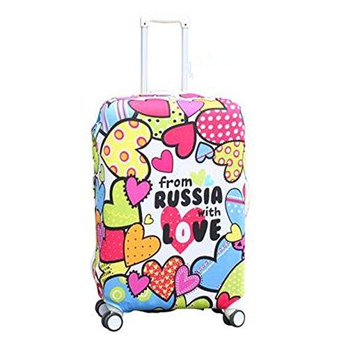 Bagage Valise Housse de protection hellodigi Impression Coton élastique résistant Multicolore russia love L L
