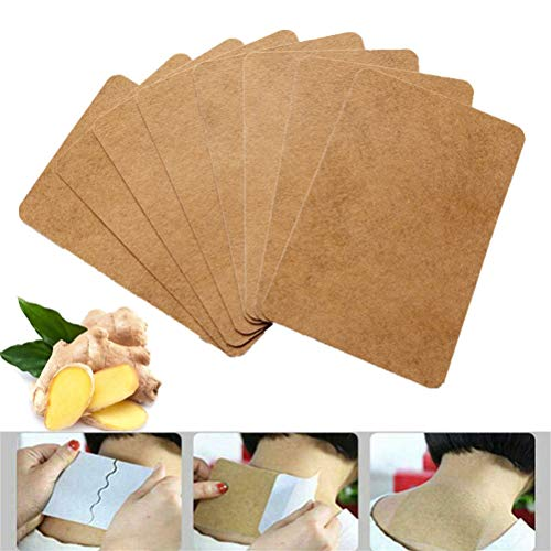 Mekta 50 Stück Ingwer wärmende Aufkleber externe Wärmequelle Ingwerpaste Körperpflege Aufkleber