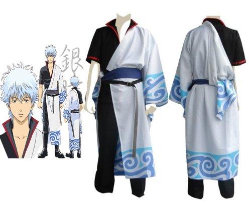 Gintama Silver Soul Cosplay Kostüm,Sakata Gintoki Cosplay Kostüm, Größe (Gintoki Cosplay Kostüm Sakata)
