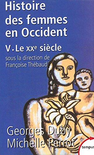 Histoire des femmes en Occident, tome 5 : Le XXe sicle