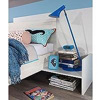 Nachtkommode weiß Nachttisch Nachtkonsole Nachtkästchen Nako Abladetisch Kinderzimmer Jugendzimmerkommode Schlafzimmer preisvergleich bei kinderzimmerdekopreise.eu