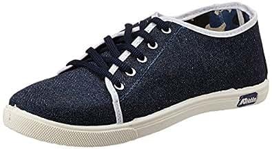 AJ Hobbs Men's Blue Canvas Sneakers - 10 UK (AJ98)