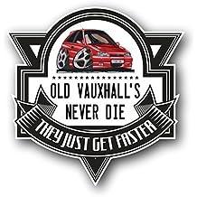 Koolart Cartoon Old vauxhalls Never Die Retro MK3 Opel Astra Gsi vinilo adhesivo coche insignia 100