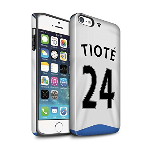 Offiziell Newcastle United FC Hülle / Glanz Harten Stoßfest Case für Apple iPhone 5/5S / Shelvey Muster / NUFC Trikot Home 15/16 Kollektion Tioté