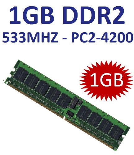 1 GB 240 pin DDR2-533 (533Mhz, PC2-4200U, CL4) NON ECC, unbuffered für DDR2 Mainboards - 100% kompatibel zu 400Mhz, PC2-3200U, CL3 -