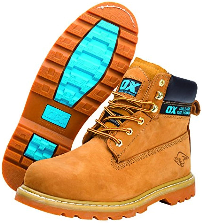Buey ox-s242510 Miel Nubuck Seguridad Boot, Tan, tamaño 10