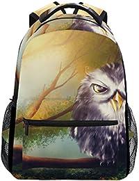 Preisvergleich für COOSUN Eule zufällige Rucksack Schultasche Reise Daypack Mehrfarbig