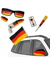 Taffstyle® Fan Set Fanartikel Deutschland Fussball WM Weltmeisterschaft 2014 & EM Länder Flaggen Style