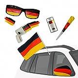 Taffstyle® Fan Set Fanartikel Deutschland Fussball WM Weltmeisterschaft 2014 & EM Länder Flaggen Style - 5-teiliges Autoset