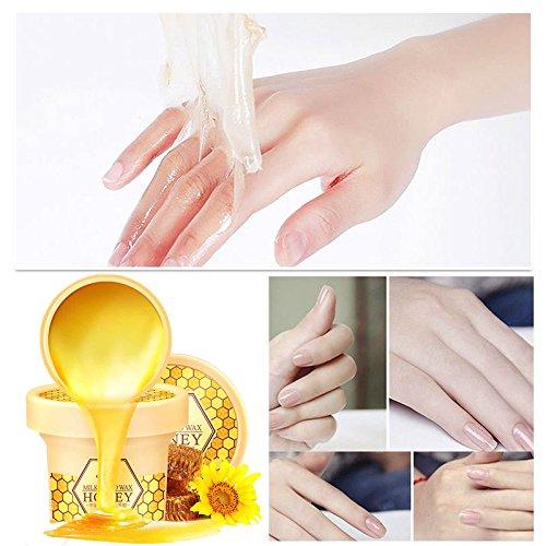 Yiwa Milch Honig Paraffinwachs Handmaske Handpflege Feuchtigkeitsspendende Whitening Hautpflege Peeling Schwielen Hand Film Handcreme 120g