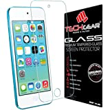 TECHGEAR® Apple iPod Touch 5 & iPod Touch 6 GLASS Edition Genuine Tempered Glass Screen Protector Guard Cover [iPod Touch 5th & 6th Generation (16GB 32GB 64GB 128GB)]