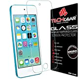 TECHGEAR Apple iPod Touch 5 & iPod Touch 6 GLASS Edition Genuine Tempered Glass Screen Protector Guard Cover [iPod Touch 5th & 6th Generation (16GB 32GB 64GB 128GB)]