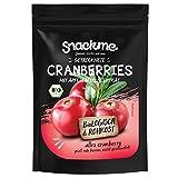 Bio getrocknete Cranberry Cranberries Früchte mit Apfelsaft gesüßt 500g getrocknet Kanada ohne Zucker ungeschwefelt roh
