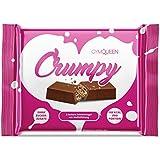 Leckerer Schokoladen Protein Riegel für Unterwegs mit knuspriger Waffel Füllung | Schoko Eiweiß Riegel, Protein-Bar für mehr Energie beim Sport mit 86% weniger Zucker | Gym Queen Crumpy Riegel – 3Stk